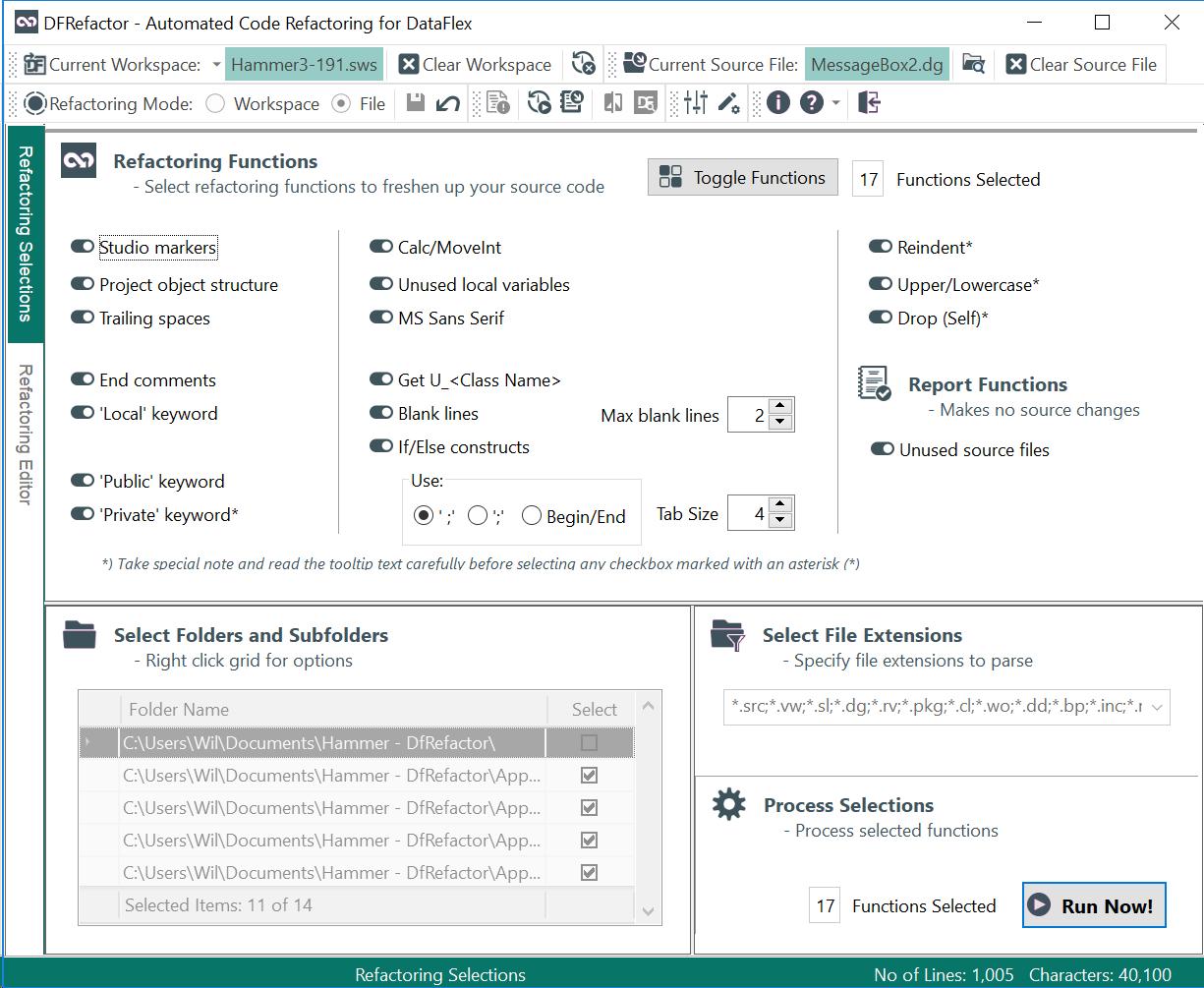 DfRefactor Screenshot